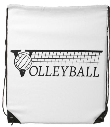 Volleyball Drawstring Backpack