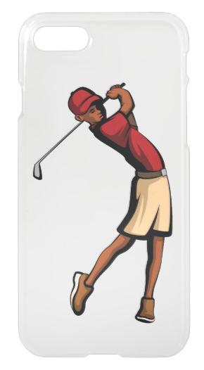 Black Golfer Boy iPhone 7 Case