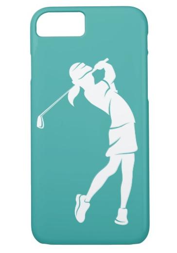 Girl Golfer Swinging an Phone Case