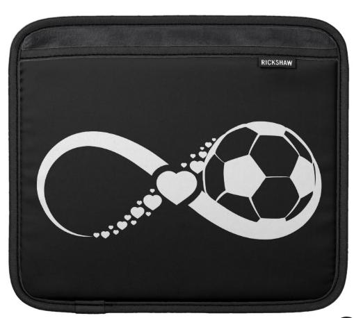 Soccer Love Infinity Sleeve For iPads