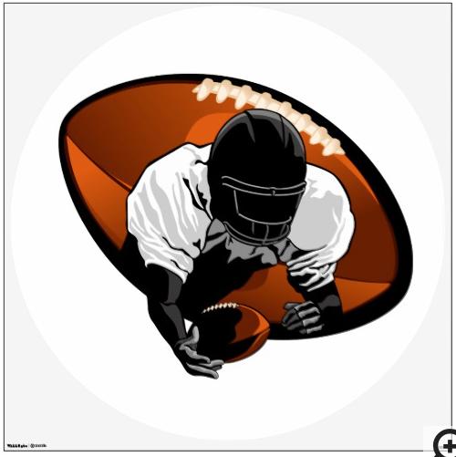 Football Diving Catch Wall Sticker