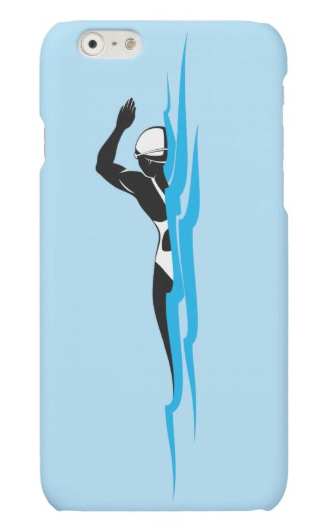 Woman Swimmer Swimming Freestyle Matte iPhone Case