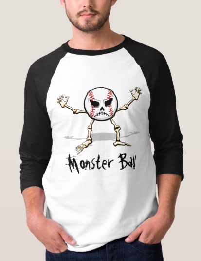 Halloween Skull Baseball Jersey T-shirt