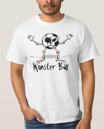 Soccer Monster Halloween Ball Value Tee