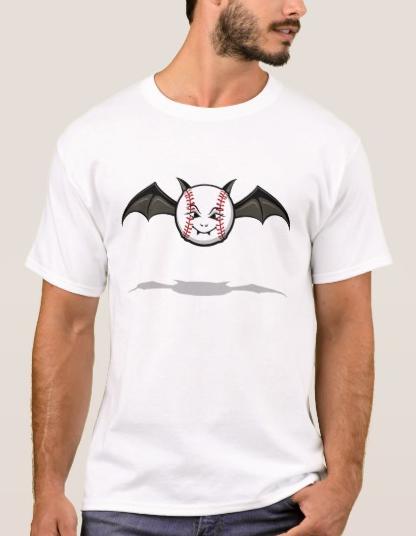 Halloween Baseball Vampire Bat T-Shirt