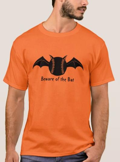 Beware of the Bat Halloween Baseball T-Shirt