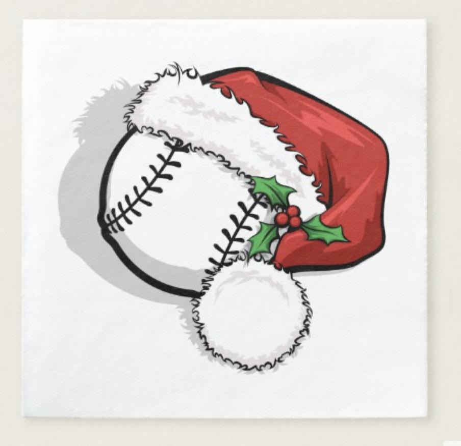 Baseball Santa Cap Napkin