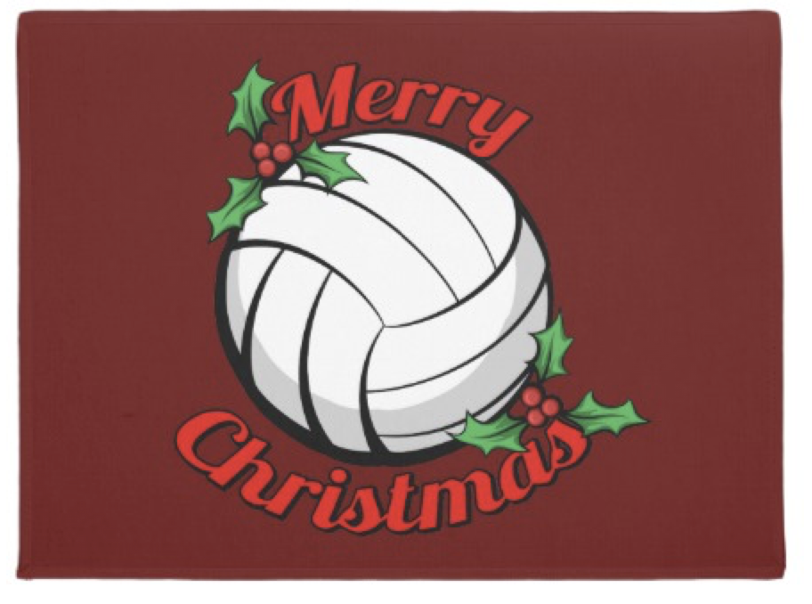 Volleyball Merry Christmas Doormat