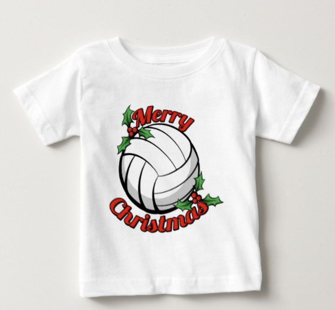 Volleyball Merry Christmas Baby T-Shirt