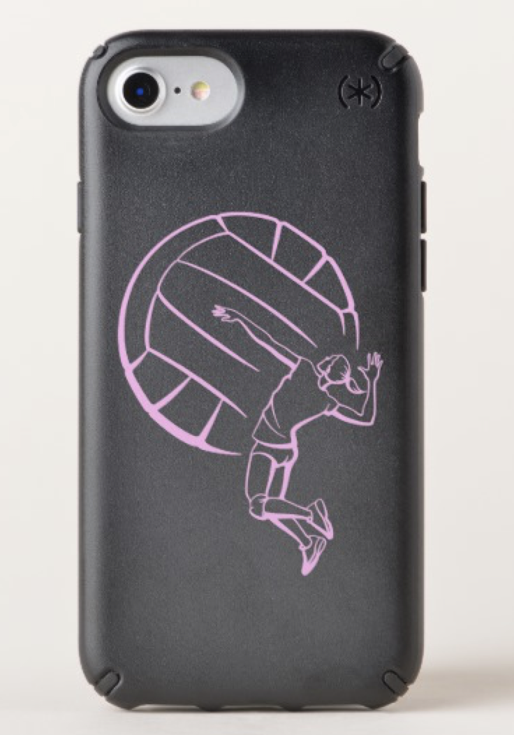 Female Volleyball Player Spiking Speck iPhone Case