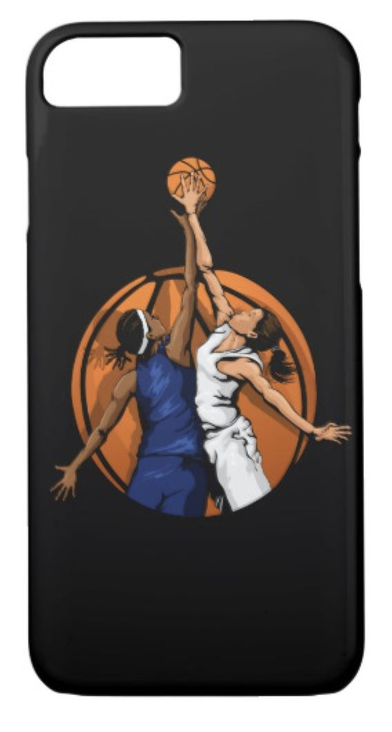 Girl Basketball Jumpball iPhone 8/7 Case