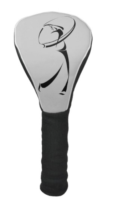 Stylized Golfer Teeing Off Golf Head Cover