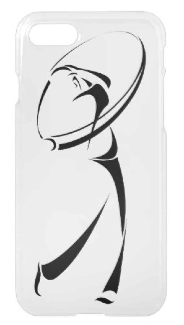 Stylized Golfer Teeing Off iPhone 8/7 Case