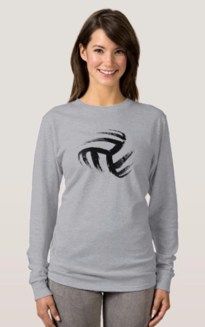 Grunge Style Volleyball Design T-Shirt