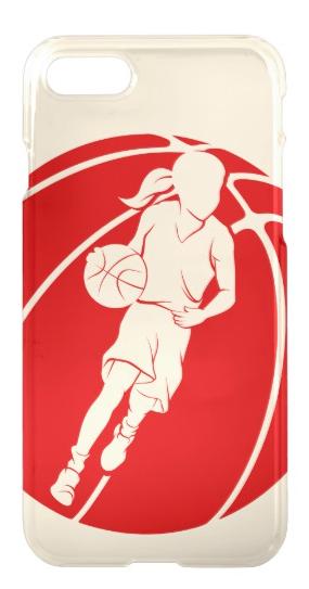 Basketball Girl Dribbling in Basketball iPhone 8/7 Case