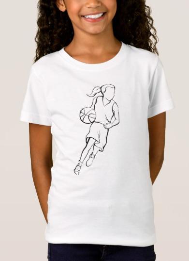 Basketball Girl Dribble T-Shirt
