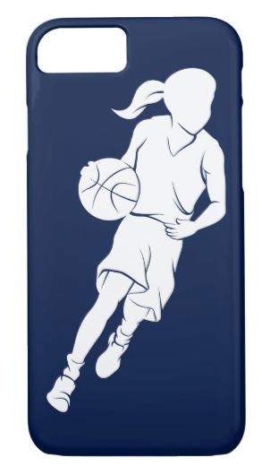 Basketball Girl Dribbling iPhone 8/7 Case
