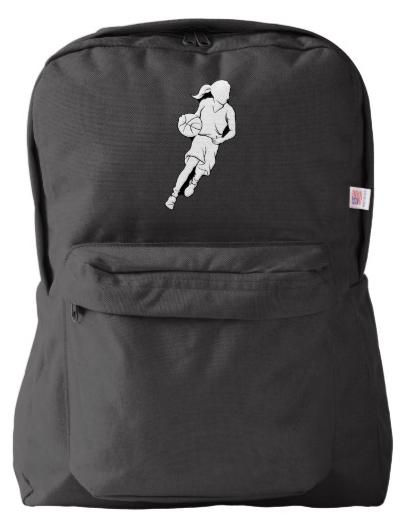 Basketball Girl Dribbling Backpack
