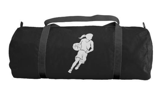 Basketball Girl Dribbling Gym Bag