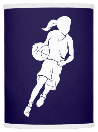 Basketball Girl Dribbling Lamp Shade