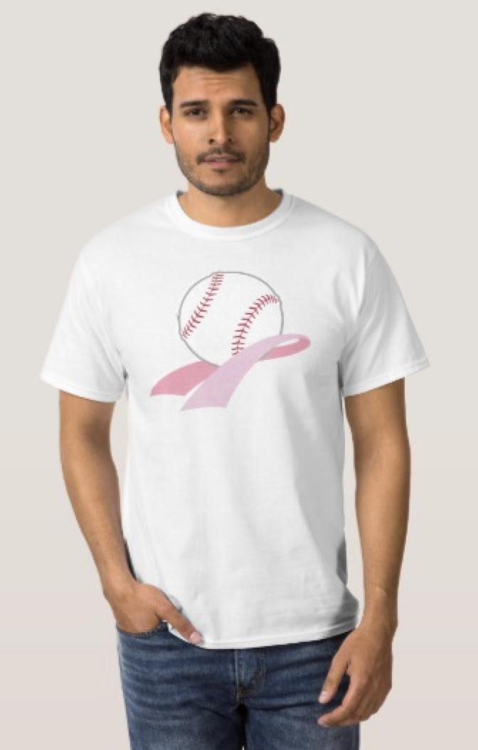 Baseball Breast Cancer Awareness T-Shirt