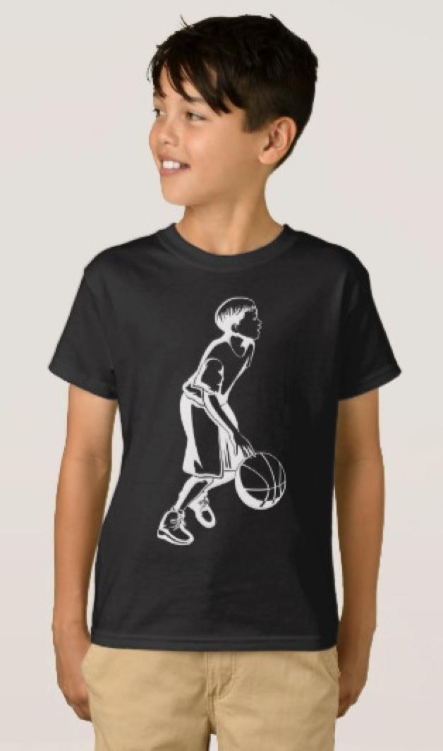 Boy Dribbling a Basketball T-Shirt