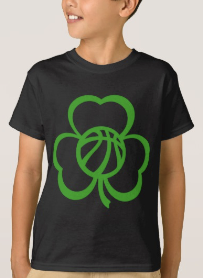 Basketball Three Leaf Clover for St. Patrick's Day T-Shirt