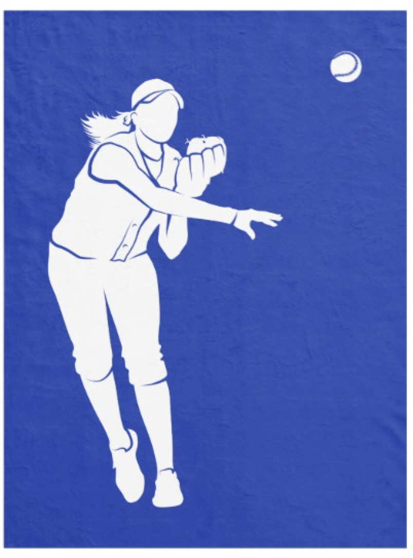 Softball Throw Fleece Blanket