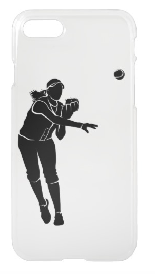 Softball Throw iPhone Case