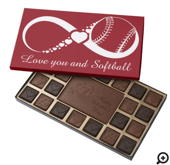 Softball Infinite Love Chocolates