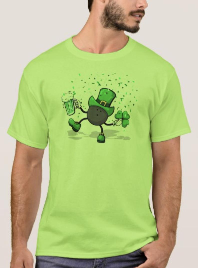 Dancing Leprechaun Bowling Basic T-Shirt