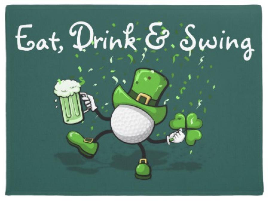 Golf Leprechaun Dancing Doormat