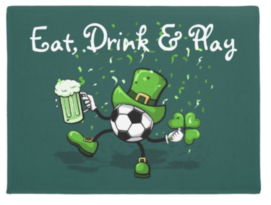 Soccer Leprechaun Dancing Doormat