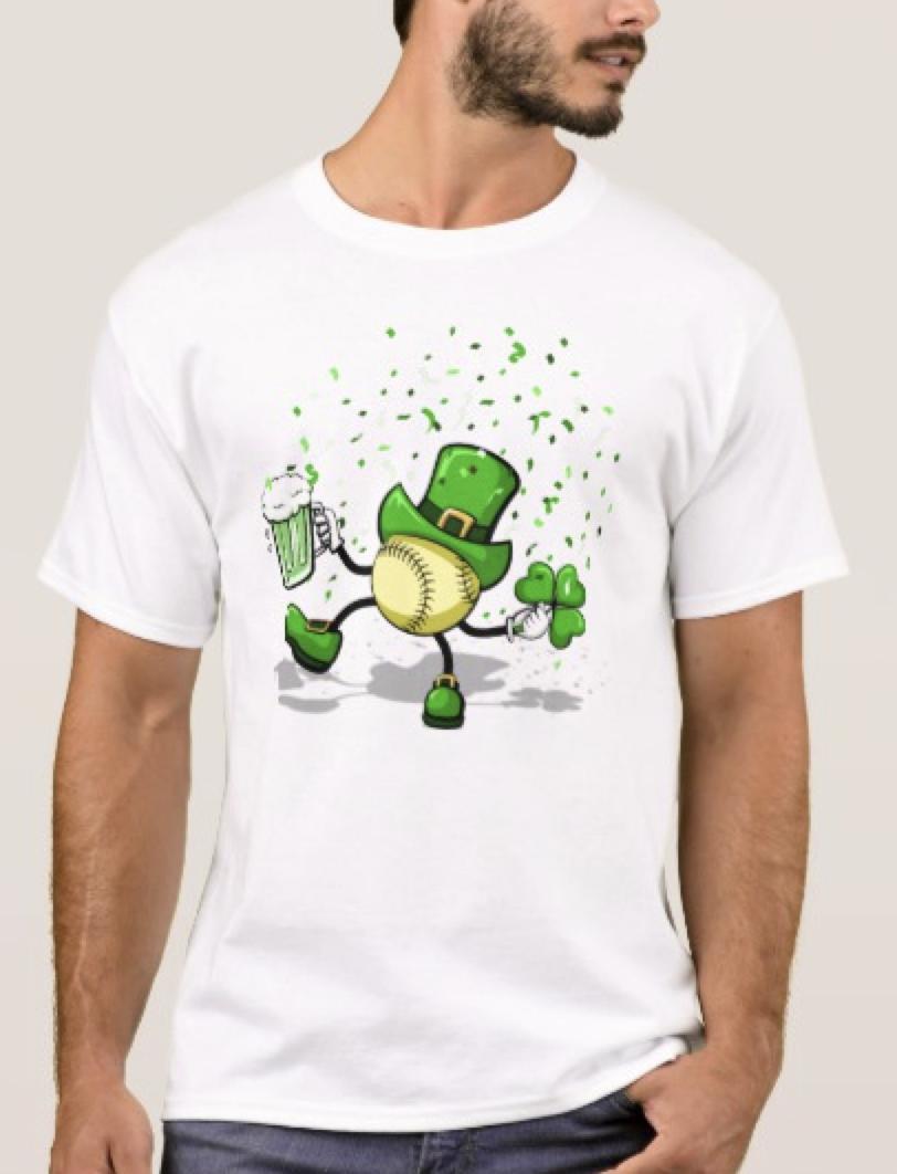 softball Leprechaun Dancing T-Shirt