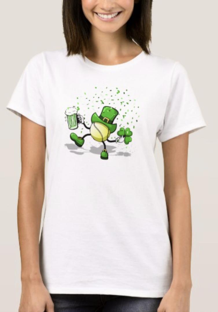 Tennis Leprechaun Dancing Women's T-shirt