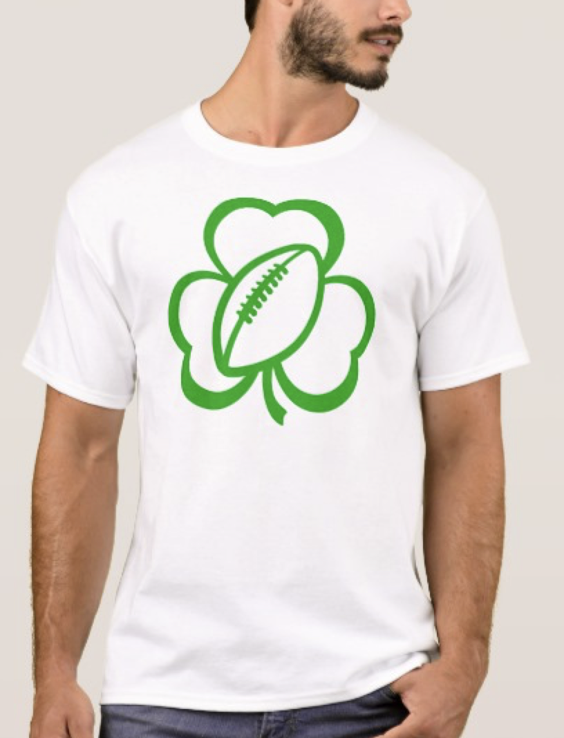 Football Three Leaf Clover for St. Patrick's Da T-Shirt
