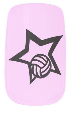 Volleyball Star Minx Nail Wraps