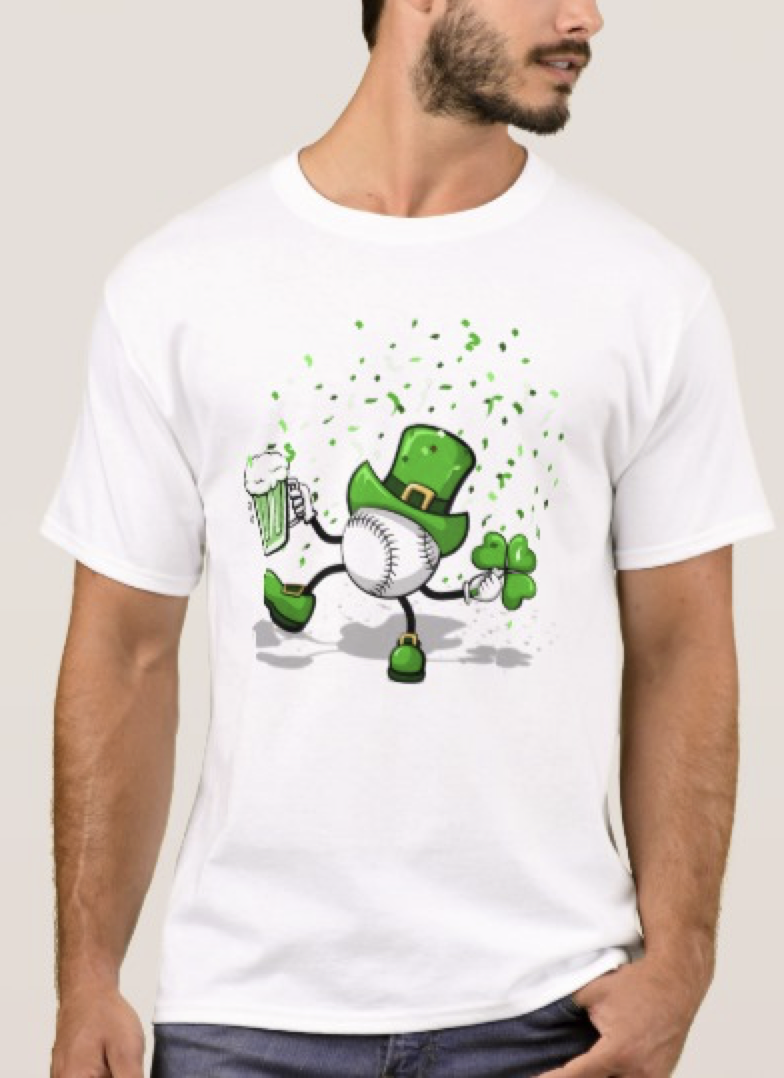 Baseball Dancing Leprechaun T-Shirt