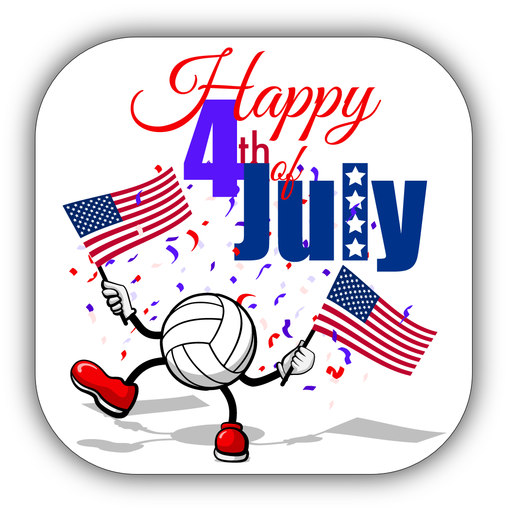 Volleyball 4th Of July Stickers