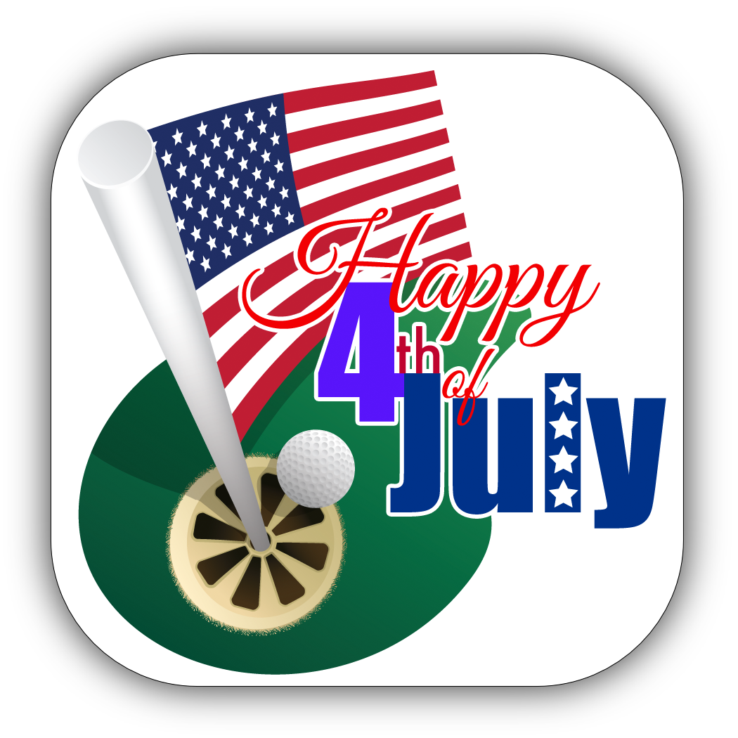 Golf 4th of July Stickers