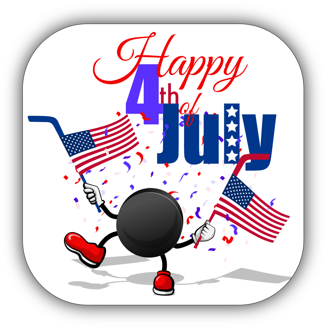Hockey 4th of July Stickers