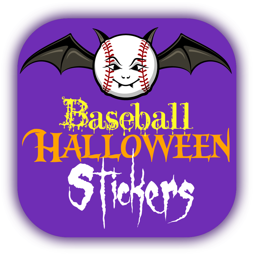 Baseball Halloween Stickers