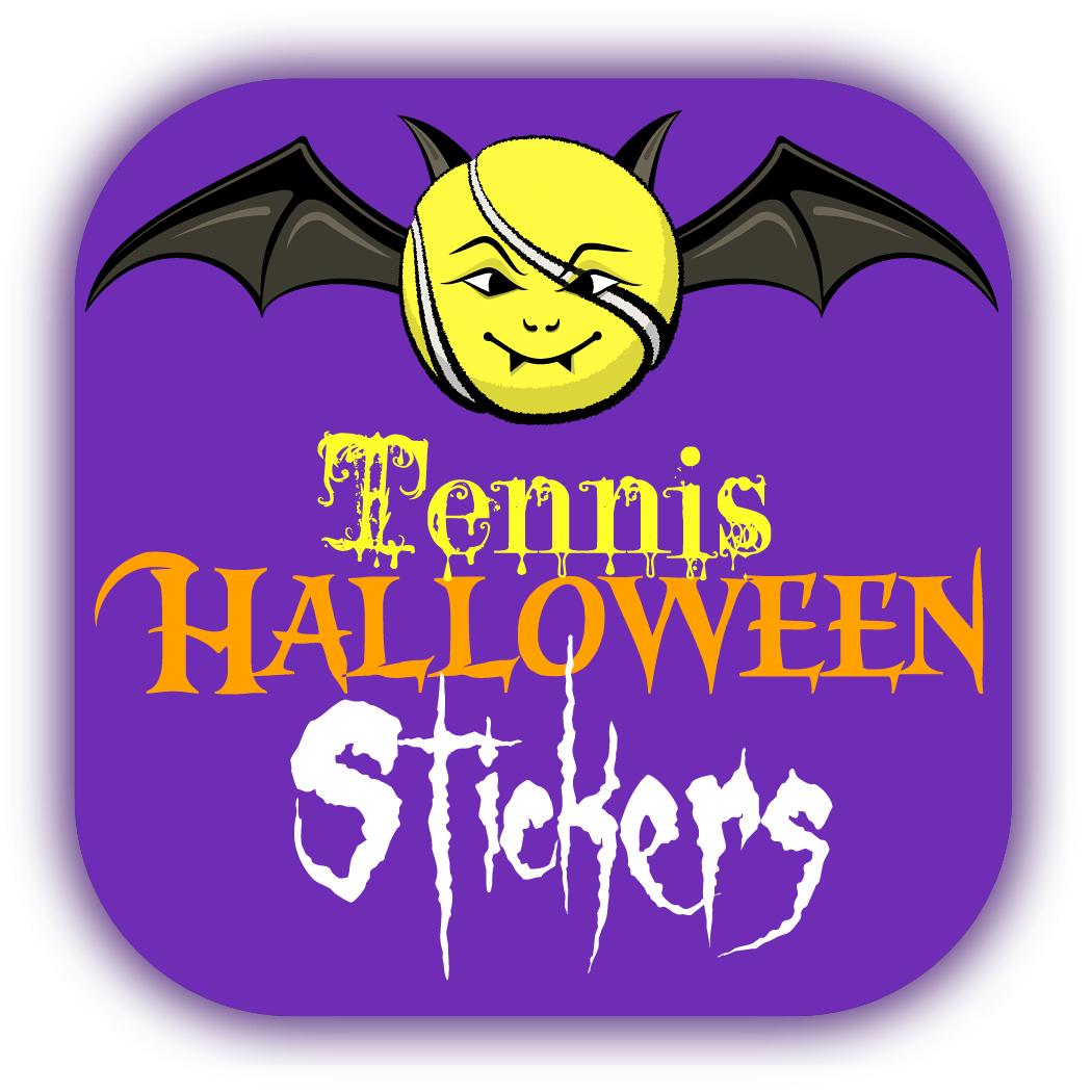 Tennis Halloween Stickers
