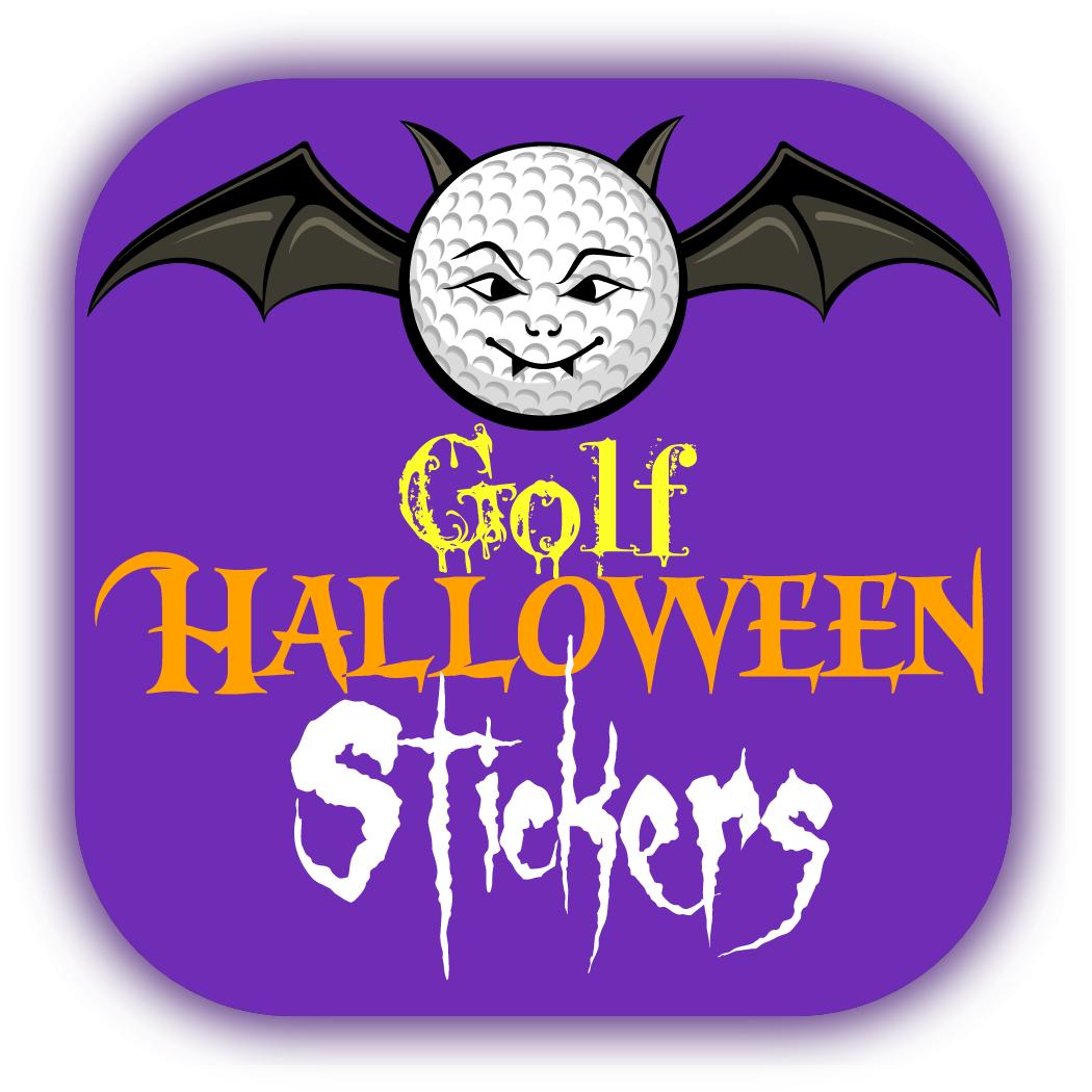 Golf Halloween Stickers