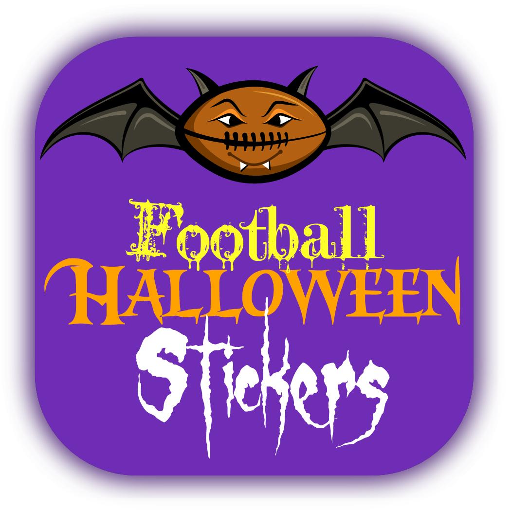 Football Halloween Stickers