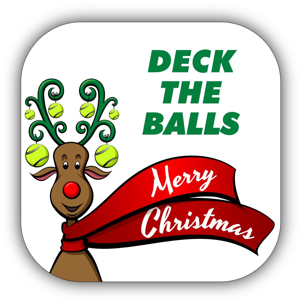 Tennis Christmas Stickers