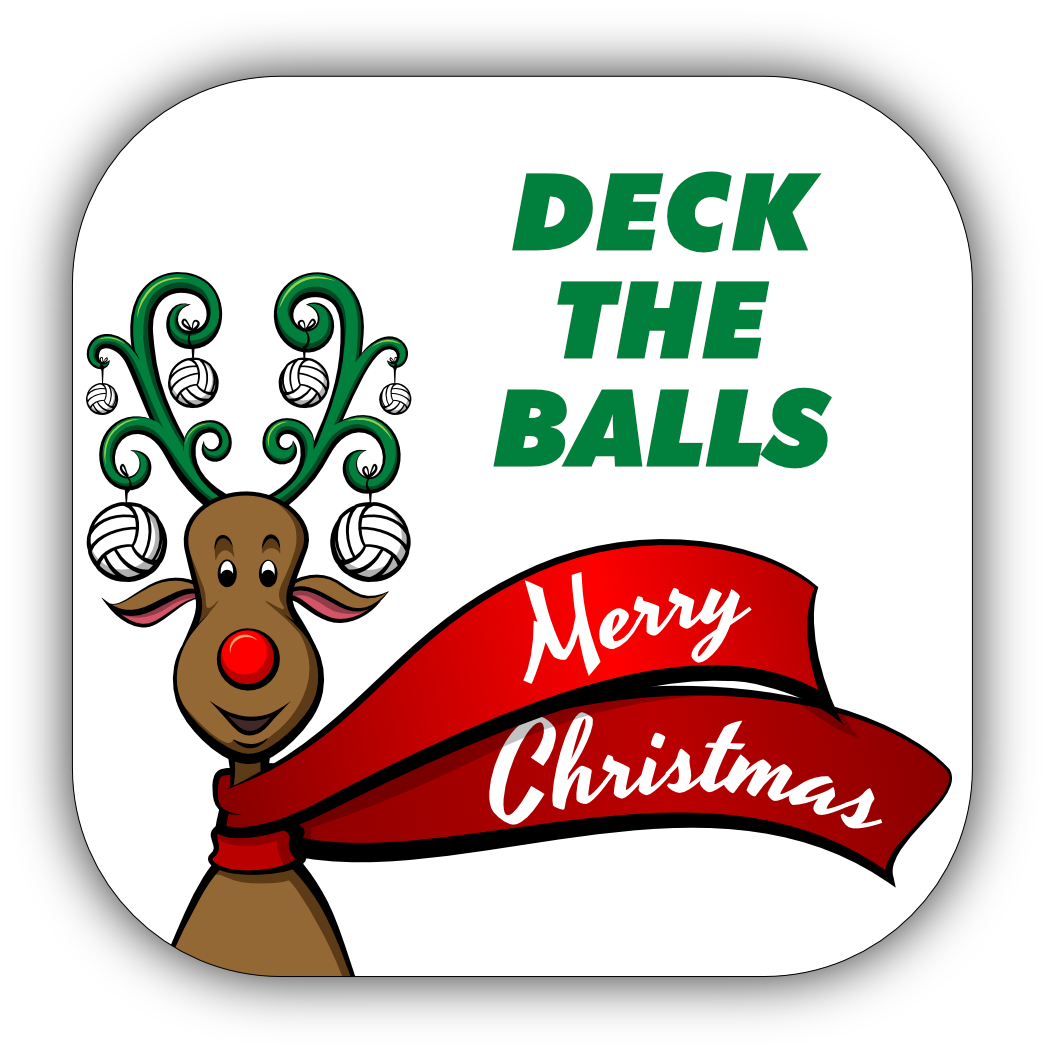 Volleyball Christmas Stickers