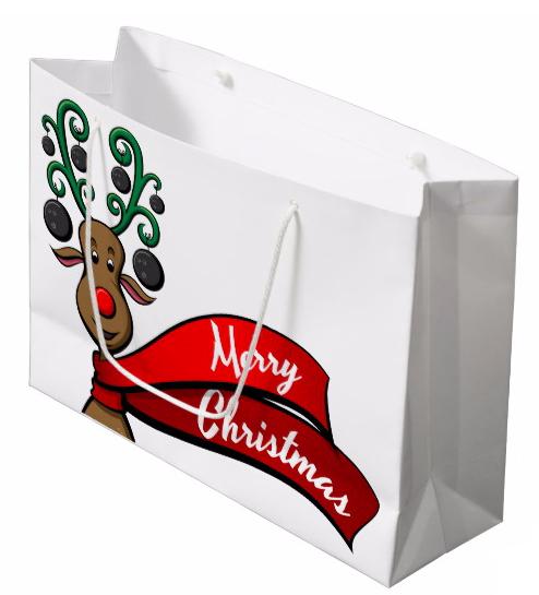 Bowling Christmas Reindeer Gift Bag
