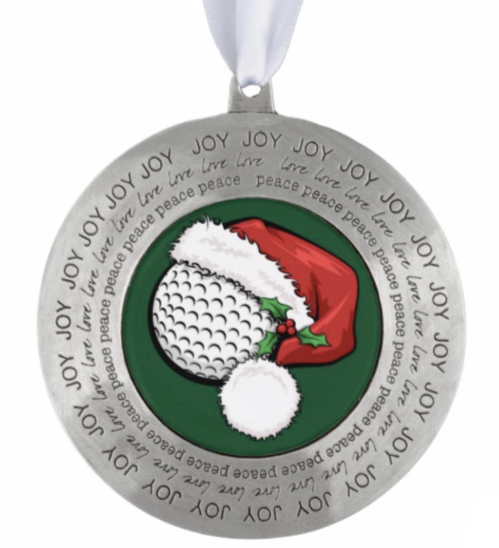 Christmas Golf Santa Cap Ornament