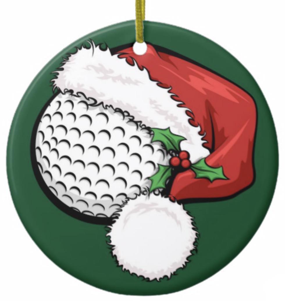 Golf Santa Cap with Green Ornament